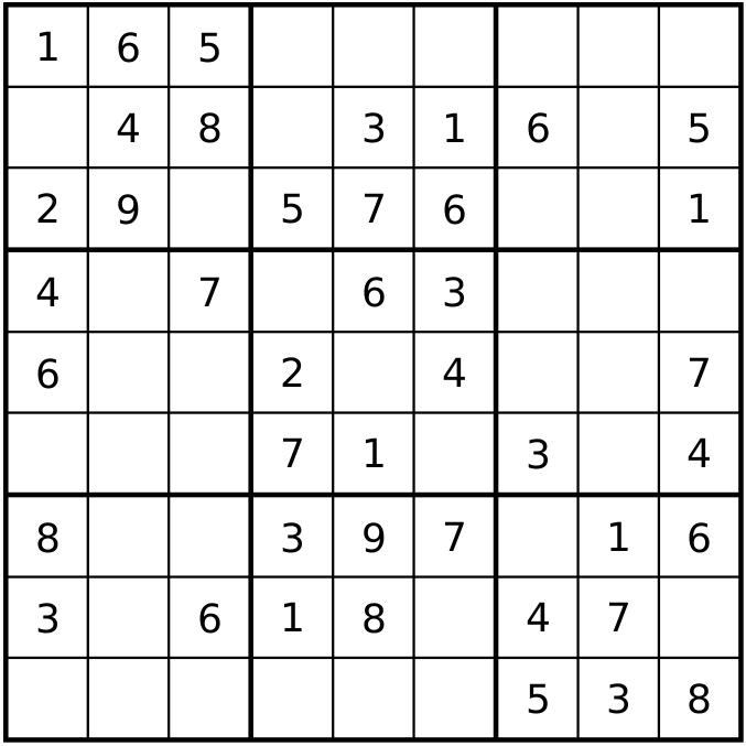 Helppo Sudoku